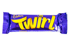 Twirl Cadbury φραγμός σοκολάτας Στοκ εικόνα με δικαίωμα ελεύθερης χρήσης