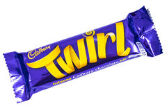 Twirl Cadbury φραγμός σοκολάτας Στοκ Εικόνες