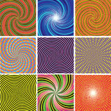 Twirl colorful backgrounds. Vector set of twirl colorful backgrounds Royalty Free Stock Photo