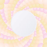 Twirl colorful border background. Circular pastel twirl with border or frame for copy space background stock illustration
