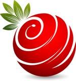 Twirl fruit logo. Illustration art of a twirl fruit logo with isolated background Royalty Free Stock Photography