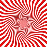 Twirl funky background. Twisted red and white stripes Royalty Free Stock Photography