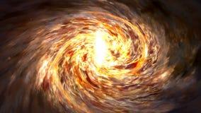 Twirl galaktyka jest w bezpłatnej przestrzeni Abstrakcjonistyczna animacja Milky sposób royalty ilustracja
