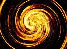 Twirl jaskrawy wybuchu błysk na czarnych tło. pożarniczy wybuch Zdjęcie Stock