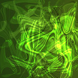 Twirl luminous light green abstract background. Royalty Free Stock Images