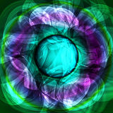 Twirl luminous light green purple abstract background.  Royalty Free Stock Images