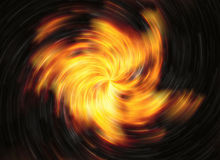 Twirl motion of bright explosion flash on black backgrounds Royalty Free Stock Photos
