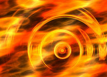 Twirl motion of bright explosion flash on fire backgrounds Royalty Free Stock Images