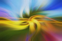 Twirl in Shades of Green, Pink, Yellow And Blue, With Abstract Blurred Look stock image