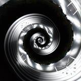 Twirl vermelho de Digitas art imagens de stock royalty free