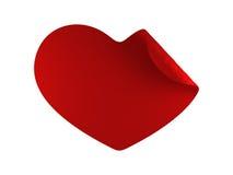 Twirl vermelho do coração Fotografia de Stock