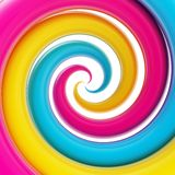 Twirled curve tube vortex as abstract background. Twirled vortex as colorful abstract background made of cmyk colored glossy curve tubes on white Vector Illustration