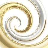 Twirled curve tube vortex as abstract background Royalty Free Stock Photos