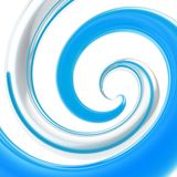 Twirled curve tube vortex as abstract background. Twirled vortex as colorful abstract background made of blue and chrome metal glossy curve tubes on white Royalty Free Stock Image