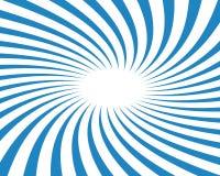 twirled den blåa strålen för bakgrund vektorn Arkivfoto