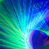 Twirled laser lights lines Stock Photos
