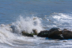 The twirled sea wave Royalty Free Stock Images