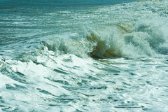 The twirled sea wave Stock Photos
