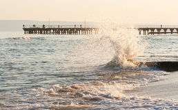 The twirled sea wave Stock Image