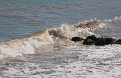 The twirled sea wave Royalty Free Stock Image