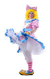 Twirling Clown Royalty Free Stock Photography