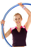 Twirling a hoop Stock Photos