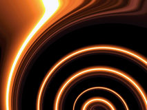 Twirling orange lines. Twirling orange line pattern on black stock illustration