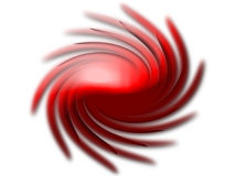 Twirling Shape. A twisting, twirling, spiraling red shape vector illustration