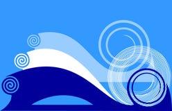 twirls сини предпосылки Стоковые Фотографии RF