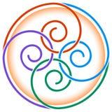 Twirls design. Isolated illustrated linked twirls design Stock Image