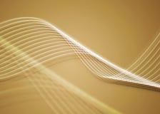 Twirls dourados Imagem de Stock Royalty Free
