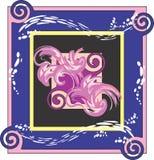 Twirls & splashes image Royalty Free Stock Photo