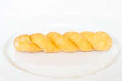 Twist bread. On white background Stock Images