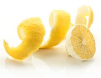 Twist of citrus peel. Stock Image
