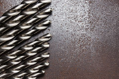 Twist drill bits Royalty Free Stock Image