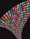 twist för mosaikregnbågefyrkanter royaltyfri illustrationer