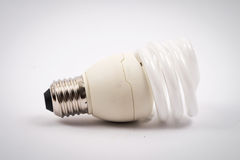 Twist light bulb on white background Royalty Free Stock Photos