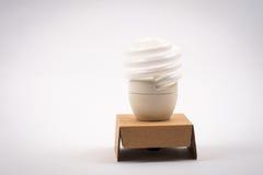Twist light bulb on white background Royalty Free Stock Image