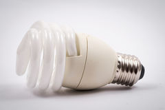 Twist light bulb on white background Stock Photos