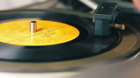 Twist Old Vinyl Record stock video footage