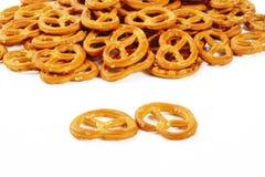 Twist pretzel on white background Stock Photos