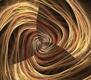 Twist Textures Abstract. Twisting, blond fiber textures effect - fractal abstract background Royalty Free Stock Image