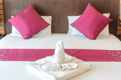 Twist towel and pillow Stock Images