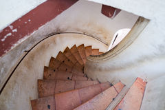 Twist vintage stair Royalty Free Stock Photo