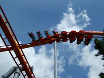 Twisted. Wild Roller Coaster ride in California Stock Photo