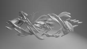 Twisted angular shape Royalty Free Stock Images