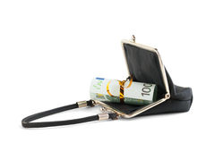 Twisted banknotes in your wallet Stock Photo