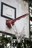 Twisted basketball hoop Stock Photo