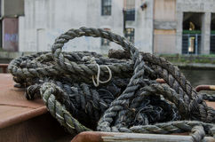 Twisted Black Rope Royalty Free Stock Images