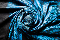 Twisted blue cashmere scarf Stock Photography